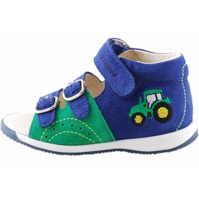 Kék-zöld, traktoros, puha talpú, Szamos szandál