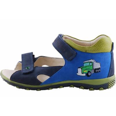 Kék-zöld kamionos, hajlékony talpú, Szamos szandál