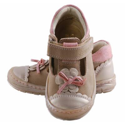 Bézs, rózsaszín csillogós, masnis, Szamos kislány cipő