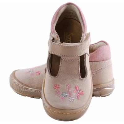 Bézs, pillangós, virágos, Szamos kislány tavaszi cipő