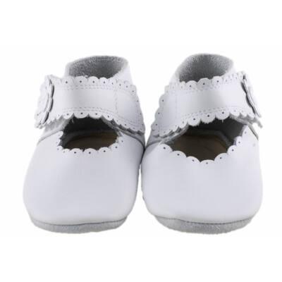 Fehér, csipkés, virágos, tépőzáras, Szamos puhatalpú cipő