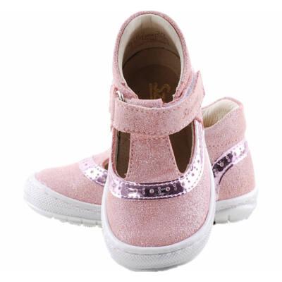 Csillogós rózsaszín, ezüst, extra puha talpú Szamos tavaszi cipő