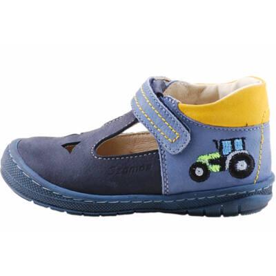 Kék-mustár, traktoros, hajlékony talpú, Szamos szandálcipő