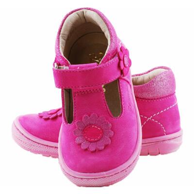Pink, csillogó virágos, hajlékony talpú, szandálcipő