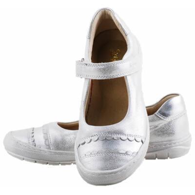 Ezüst, hajlékony talpú, Szamos, pántos balerina