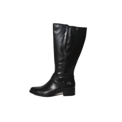 Tamaris fekete bőr csizma (vastag vádlira) - Levendula gyerekcipő b17ea7bb02