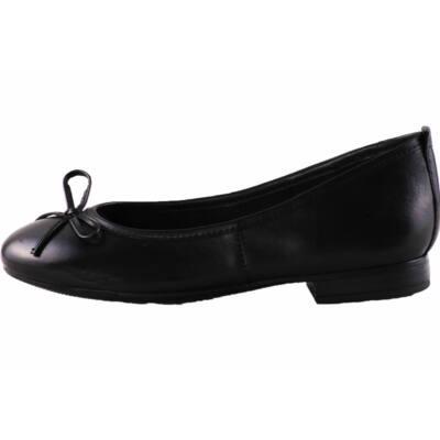 Tamaris fekete masnis balerina