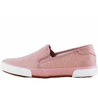 Rózsaszín csillogós, Tamaris, vászon félcipő