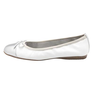 20cbd0c7ed Fehér-ezüst Tamaris balerina - Levendula gyerekcipő webáruház