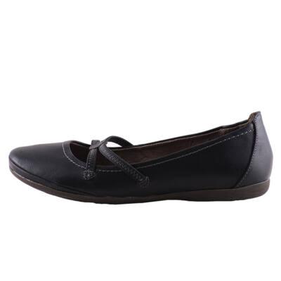 Tamaris fekete kereszptántos cipő