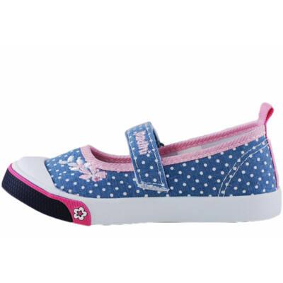 4e7483ae79 Kék, fehér pöttyös, Padini lány vászoncipő - Levendula gyerekcipő ...