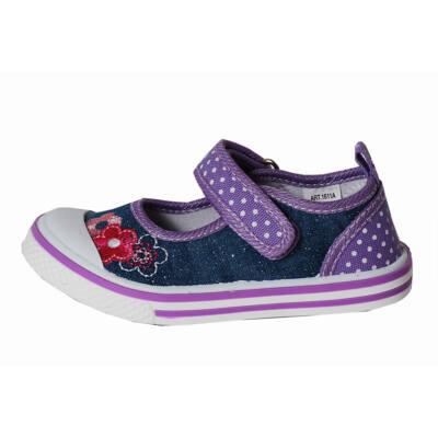Padini farmerkék-lila vászon balerina cipő - Levendula gyerekcipő de49568f30