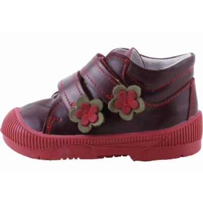 Bordó, zöld virágos, Maus supinált cipő