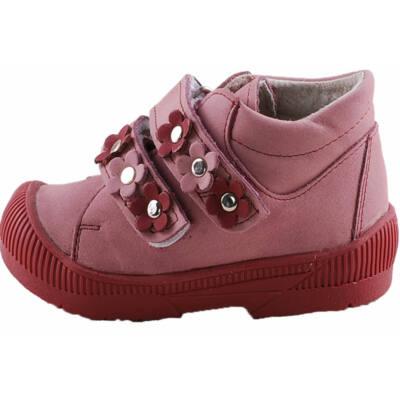 Halványrózsaszín, bordó virágos, Maus supinált cipő