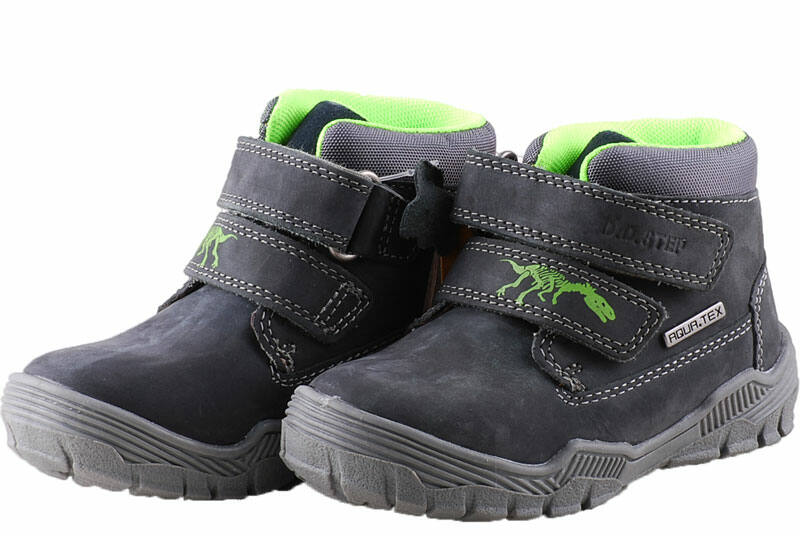 9dc5752231 Sötétszürke, zöld dínós, AQUA-tex, vízálló, D.D.Step cipő ...