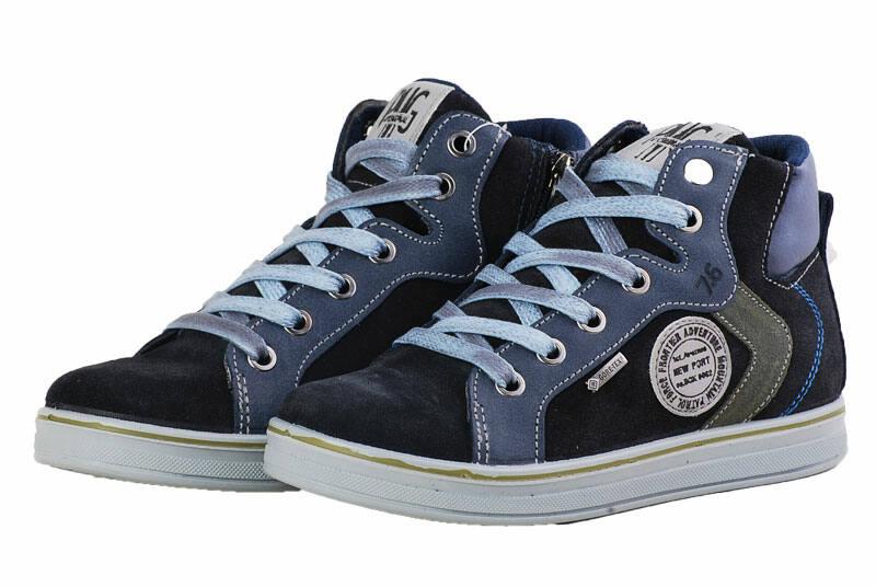 90793e2645bd Primigi vízálló Gore-tex, fekete-szürke, cipzáras-fűzős cipő ...