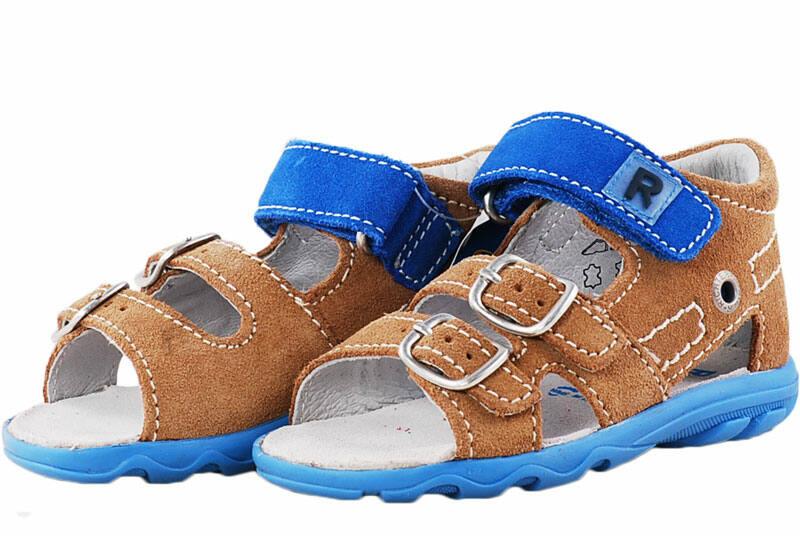 Barna-kék Richter szandál - Levendula gyerekcipő 20b9b78077