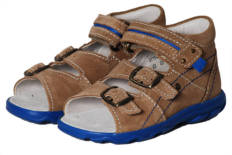 Richter barna-kék fiú szandál - Levendula gyerekcipő 514491532b