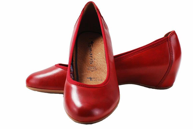 27c4c95608 Tamaris piros bőr cipő - Levendula gyerekcipő webáruház