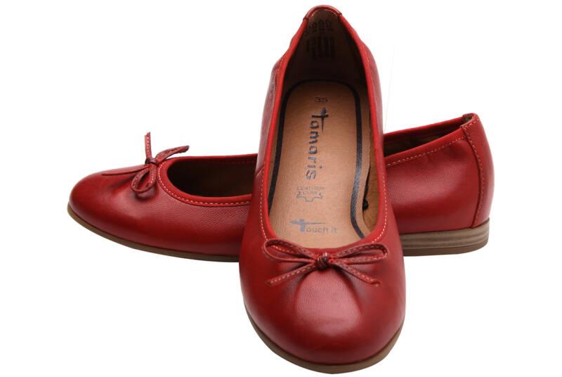 b4432a636f Piros, masnis Tamaris balerina - Levendula gyerekcipő webáruház