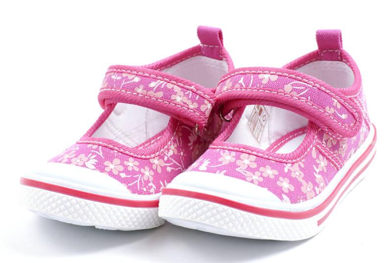 Padini ciklámen virágos balerina vászoncipő - Levendula gyerekcipő e71f7aa1cd