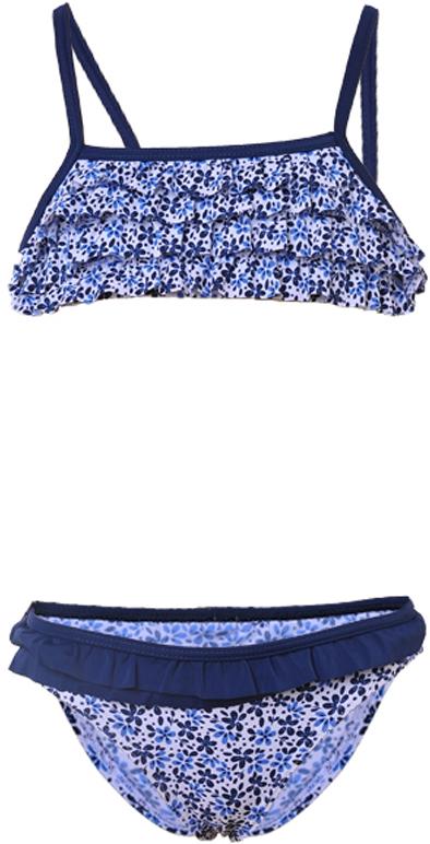 fc5f20e451 Losan sötétkék-fehér kisvirágos, fodros bikini (98) - Levendula gyerekcipő  webáruház